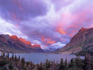 Spectacular Sunrise over Wild Goose Island in Glacier National Park, Montana, USA by Chuck Haney