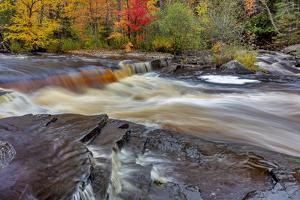 Sturgeon River in autumn near Alberta in the Upper Peninsula of Michigan, USA by Chuck Haney