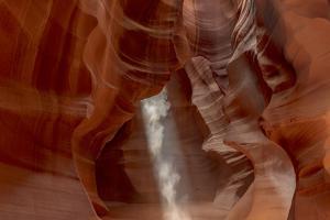 Sunbeam in Upper Antelope Canyon near Page, Arizona, USA by Chuck Haney