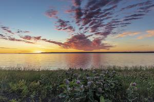 Sunrise over Fort Peck Reservoir in the Charles M Russell National Wildlife Refuge, Montana. by Chuck Haney