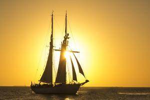 Sunset Cruise Schooner in Key West Florida, USA by Chuck Haney