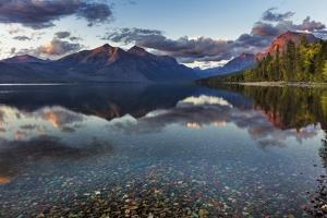 Sunset over Lake Mcdonald in Glacier National Park, Montana, Usa by Chuck Haney