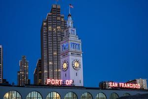 The Ferry Building on the Embarcadero in San Francisco, California, Usa by Chuck Haney