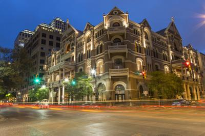 The Historic Driskell Hotel at Dusk, Austin, Texas, USA