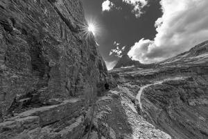 The Narrow section of the Highline Trail above Going to the Sun Road in Glacier NP, Montana by Chuck Haney