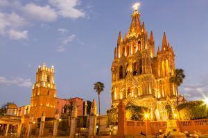 The Parish of San Miguel in San Miguel De Allende, Mexico by Chuck Haney