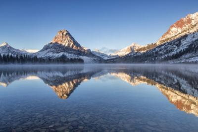 Two Medicine Lake in Winter, Glacier National Park, Montana, USA by Chuck Haney