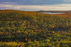 View of Lake Medora from Brockway Mountain near Copper Harbor in the Upper Peninsula of Michigan. by Chuck Haney