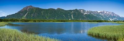 Chugach Mountains at Prince William Sound, Copper River, Alaska, USA