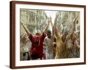 Chupinazo the Official Opening of the 2005 San Fermin Fiestas