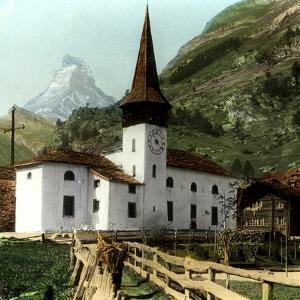 Church and Matterhorn, Zermatt, Switzerland