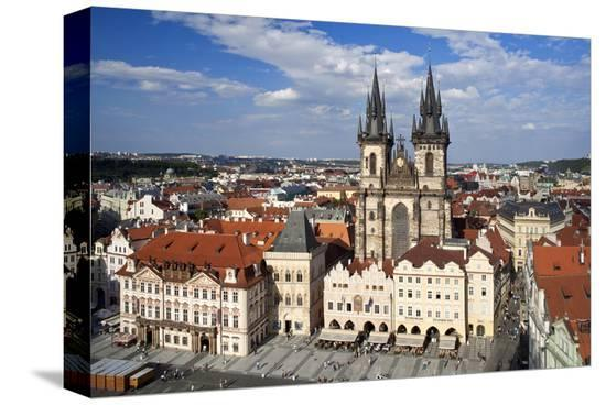 Church of Our Lady Before Tyn on Old Town Square in Prague, Central Bohemia, Czech Republic--Stretched Canvas Print