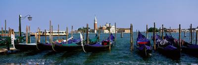 Church of San Giorgio Maggiore and Gondolas Venice Italy