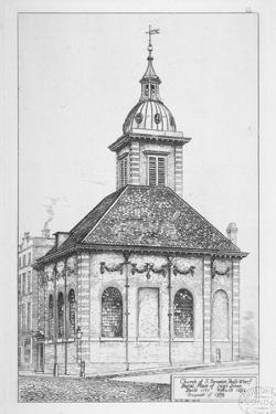Church of St Benet Paul's Wharf, City of London, 1874 by W Niven