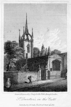 Church of St Dunstan in the East, City of London, 1816 by J Greig