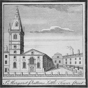 Church of St Margaret Pattens, Little Tower Street, City of London, 1750