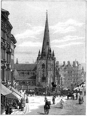 Church of St Martin in the Bull Ring, Birmingham, West Midlands, 1887