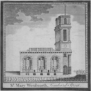 Church of St Mary Woolnoth from the North, City of London, 1770