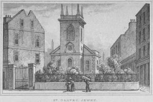 Church of St Olave Jewry, from Ironmonger Lane, City of London, 1830