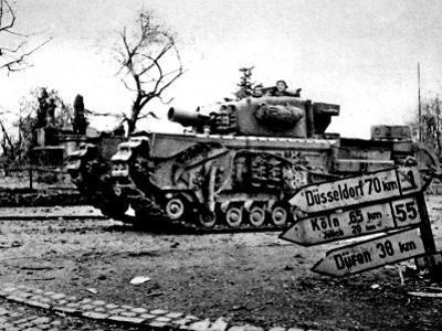 Churchill Avre Tank Entering Geilenkirchen; Second World War
