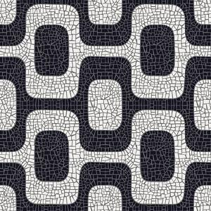 Abstract Black And White Pavement Pattern by cienpies