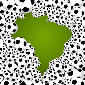 Brazil Country Shape Soccer Balls by cienpies
