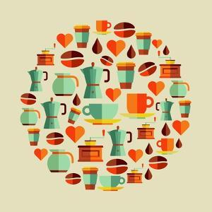 Coffee Elements Illustration by cienpies