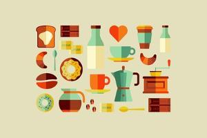 Coffee Shop Icons by cienpies