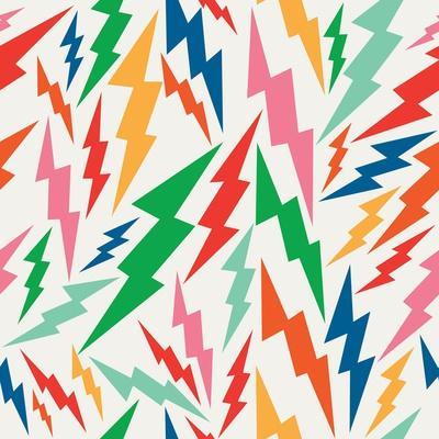 Colorful Retro Bolt Pattern