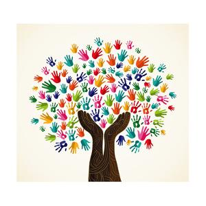 Colorful Solidarity Design Tree by cienpies