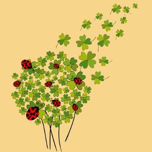 Clover and Ladybugs Spring by Cienpies Design