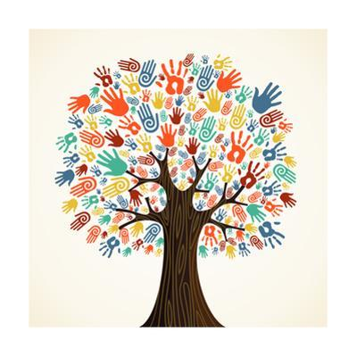 Diversity Hands Tree by cienpies