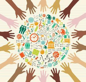 Education - Global Icons Human Hands by cienpies