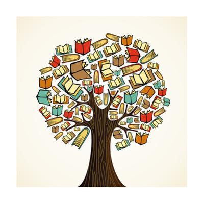 Education Tree with Books by cienpies