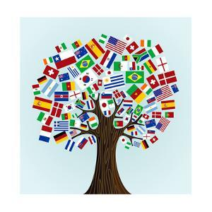 Flags Of The World Tree by cienpies