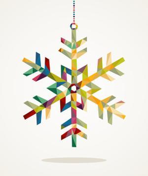 Geometric Christmas Snowflake Ornament by cienpies