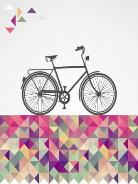 Geometric Hipster Bicycle by cienpies