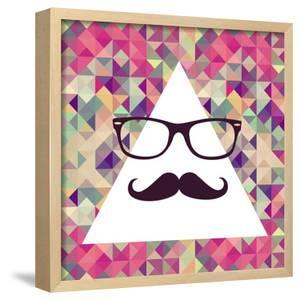 Geometric Hipster Face by cienpies
