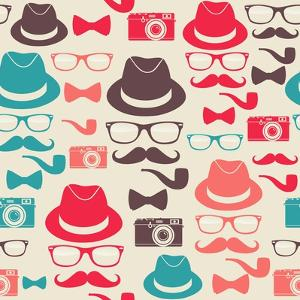 Hipster Pattern by cienpies