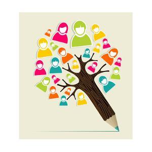 People Pencil Tree by cienpies