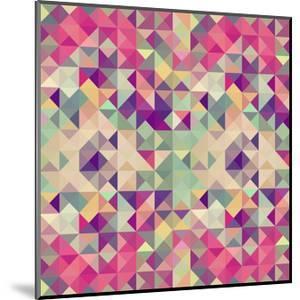 Pink Geometric Pattern by cienpies