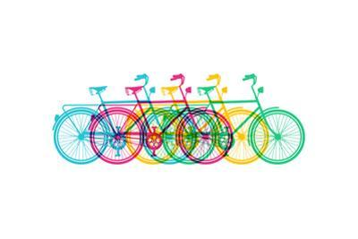 Retro Bike Silhouette by cienpies