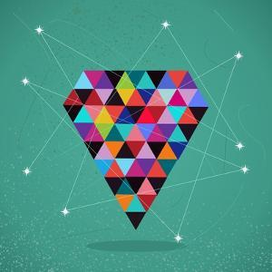 Trendy Triangle Diamond Illustration by cienpies