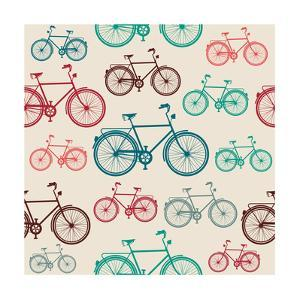 Vintage Bike Pattern by cienpies