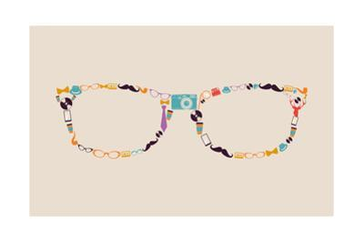 Vintage Hipster Icon Glasses by cienpies