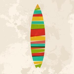 Vintage Multicolor Surfboard by cienpies