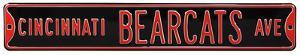 Cincinnati Bearcats Ave Steel Sign