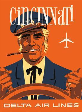 Cincinnati, Ohio - Delta Air Lines - Riverboat Captain