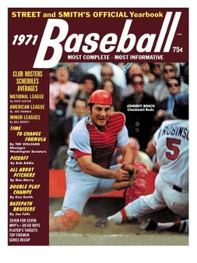 Cincinnati Reds C Johnny Bench - 1971 Street and Smith's