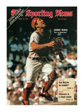 Cincinnati Reds Catcher Johnny Bench - April 18, 1970